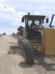 A road rebuilding project for a ranch/subdivision